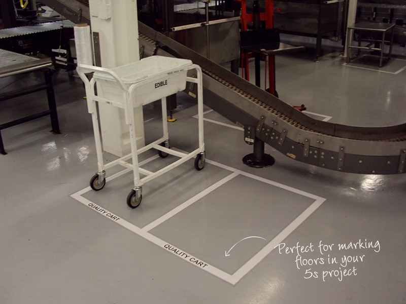 Floor Marking Tape Solid Tnp Visual Workplace