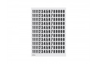 Magnetic numbers 25mm (a4 sheet)