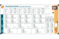 Personnel board | Example Department Surgery (120x240cm)
