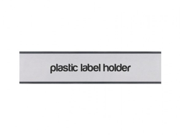 Plastic label holder